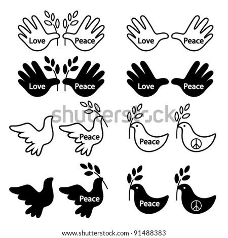 dove hand peace