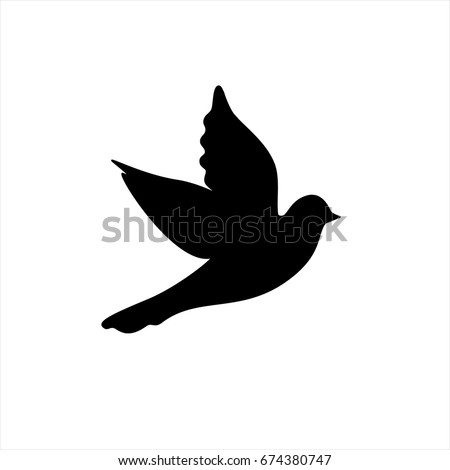 Dove icon in trendy flat style isolated on background. Dove icon page symbol for your web site design Dove icon logo, app, UI. Dove icon Vector illustration, EPS10.