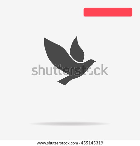 dove icon vector concept