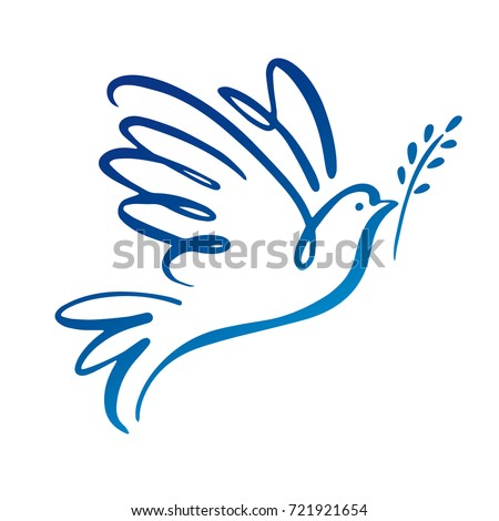 Dove of peace icon. Flying bird. Peace concept.