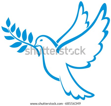 Dove of Peace Vector - stock vector