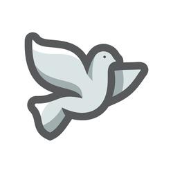 Dove of Peace Vector icon Cartoon illustration