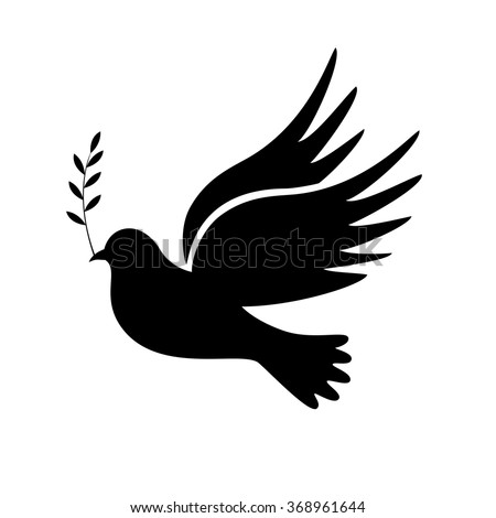 Dove of Peace vector illustration, symbols.