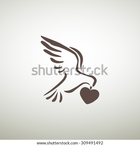 dove  web icon vector design