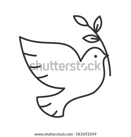 dove with olive brunch linear
