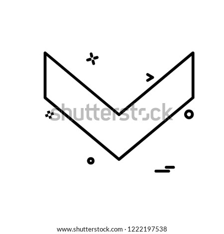 Down arrow icon design vector