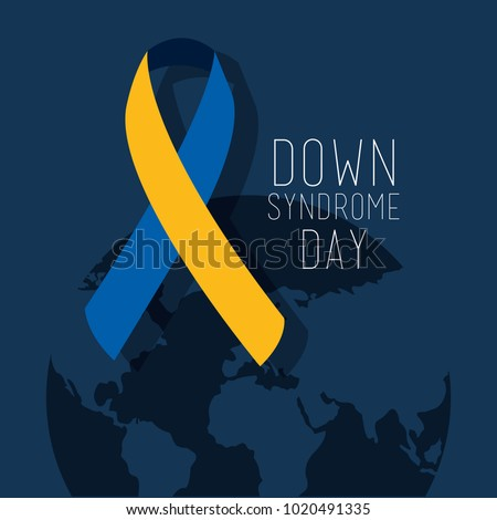 down syndrome day map world ribbon campaign