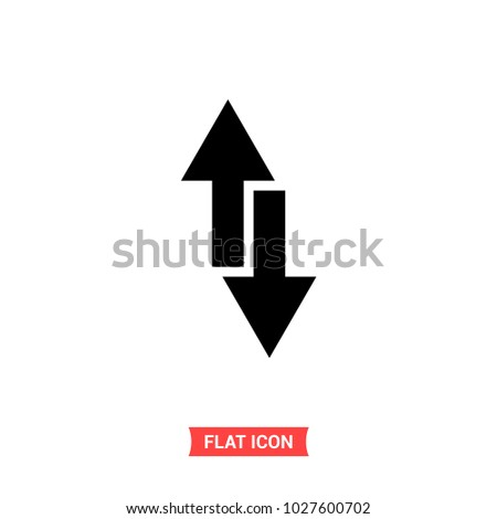 Down up vector icon, arrow symbol. Flat sign illustration for web or mobile app on white background isolated