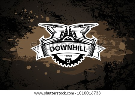 downhill motocros label design
