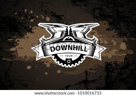 downhill motocros label design