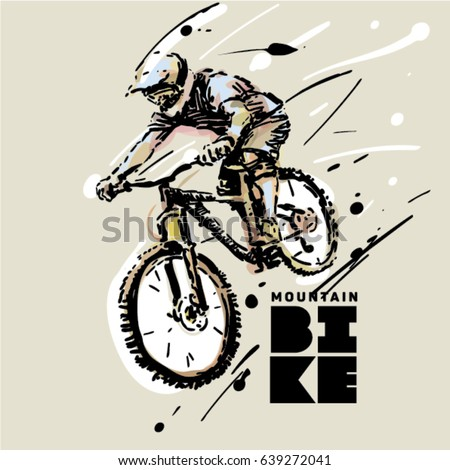 downhill mountain bike sketch
