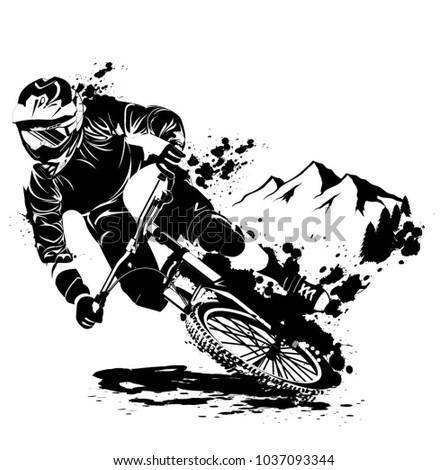 downhill mountainbike traill