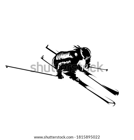 downhill skier  slalom aerial