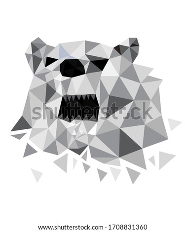 download abstract bear polygon