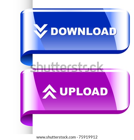 Download and upload. Vector set for web.