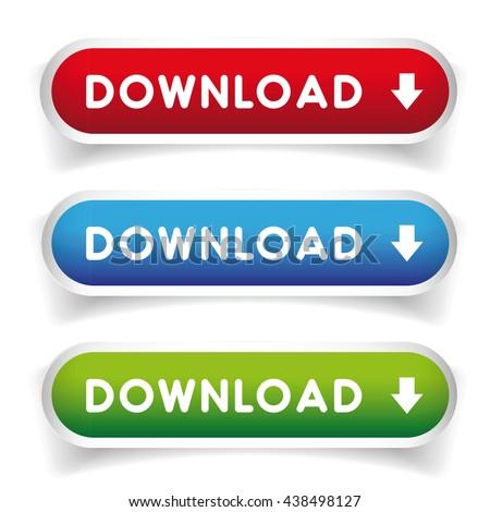 Download button set vector