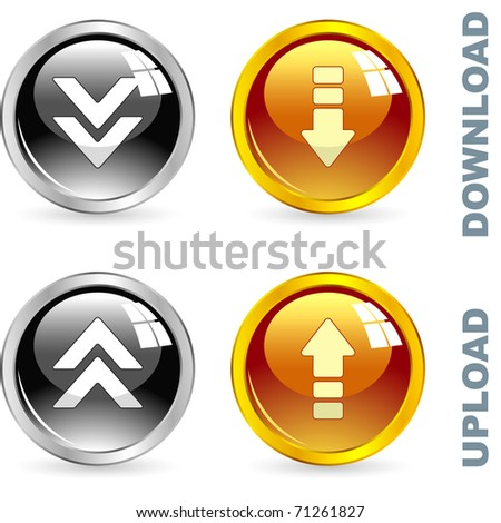 Download button set. Vector set for web.