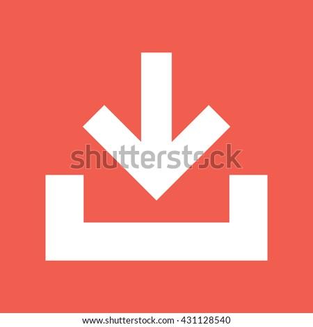 Download button vector icon