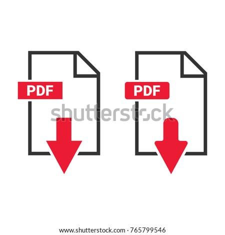 Download file icon. Vector illustration.