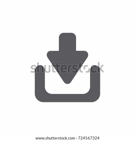 Download files icon.  Dark download icon in flat style.