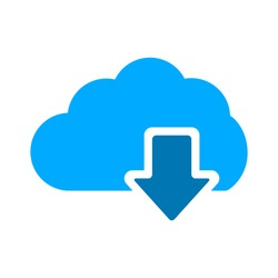 download icon - cloud Download icon - computer communication concept