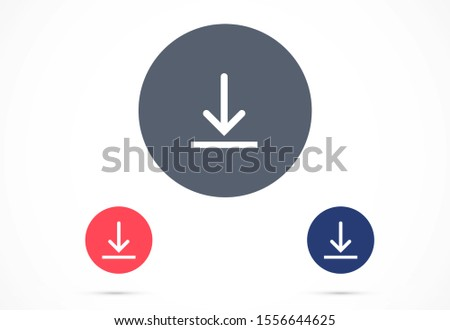 Download icon, Download icon vector, in trendy flat style isolated on white background. Download icon image illustration.Download vector icon, install symbol