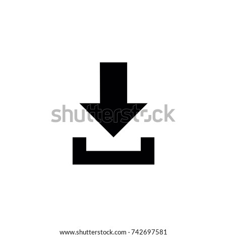 Download icon, Download icon vector, in trendy flat style isolated on white background. Download icon image, Download icon illustration