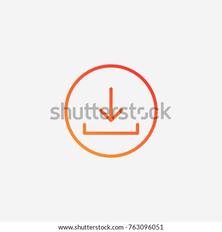 Download icon.gradient illustration isolated vector sign symbol