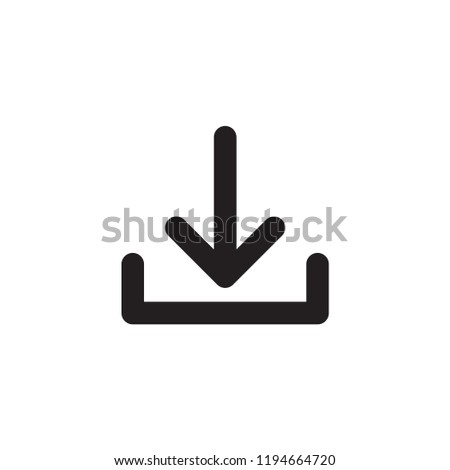 download icon in trendy flat style