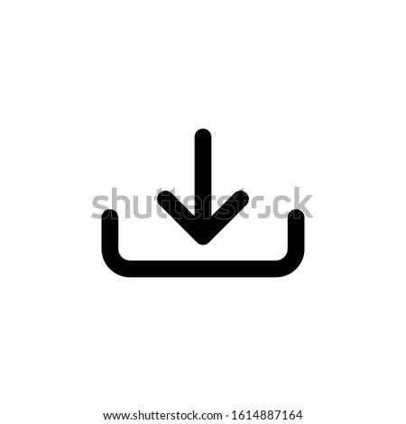 Download icon isolated on white background. Download icon in trendy design style. Vector illustration. EPS10