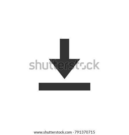 Download icon. Isolated vector.