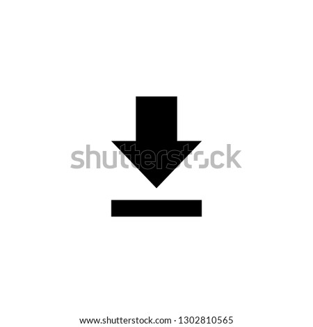 Download icon on white background. Downloading vector icon