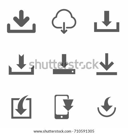 Download icon set vector
