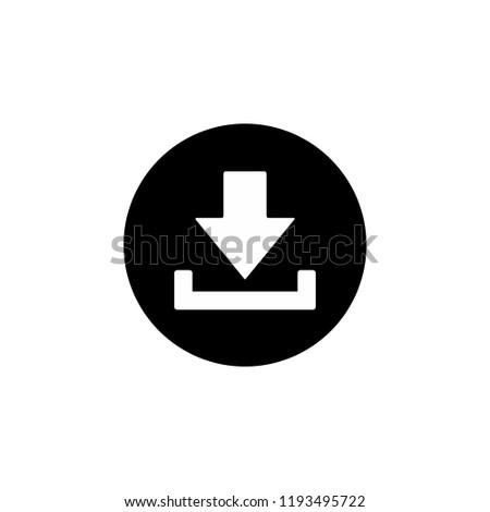 download icon symbol vector