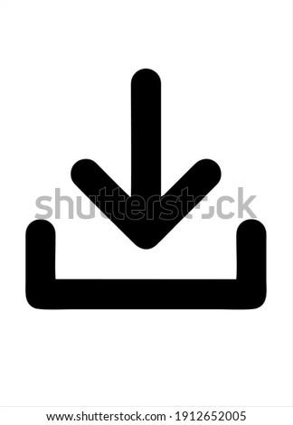 Download icon. Upload button. Load symbol.