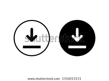 Download icon vector. Downloading vector icon
