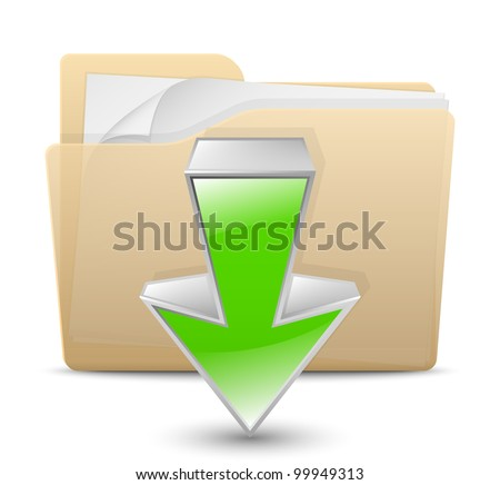 Download Icon. Vector Illustration