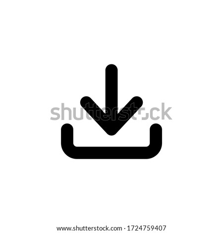Download icon vector illustration on white background