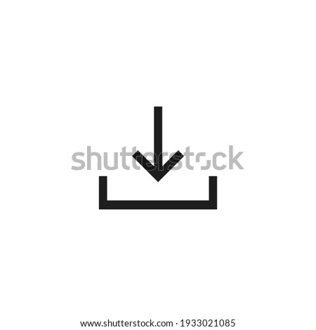 Download icon vector. Simple download sign