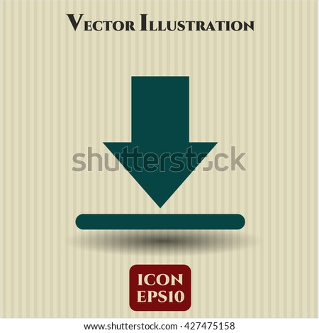 download icon vector symbol flat eps jpg app web concept website