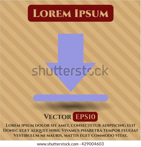 download icon vector symbol flat eps jpg app web concept website