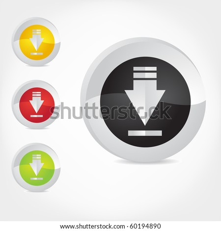 Download icons, vector illustration. (See gallery for Other icons from this set)