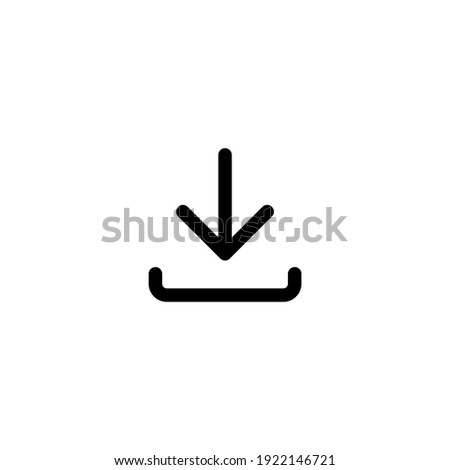 Download line icon in black, isolated on white background. Flat design. Trendy outline minimalistic logo for app, graphic design, infographic, web site, ui, ux, dev. Vector EPS 10