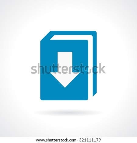 Download our catalogue icon on white background