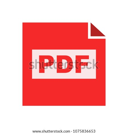 download PDF document icon - vector file format symbol