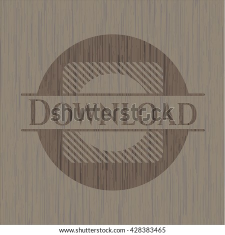 Download retro wooden emblem
