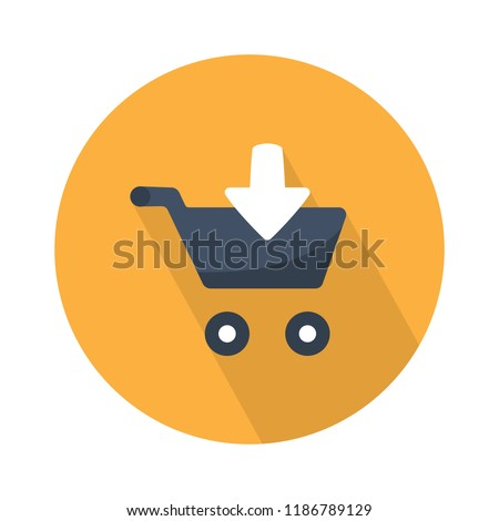 download shopping cart icon - add to shopping cart isolated. online shopping