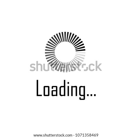 Download sign. Load icon. Load system. Data load. Loading bar. Load icon. Vector stock illustration. - stock vector