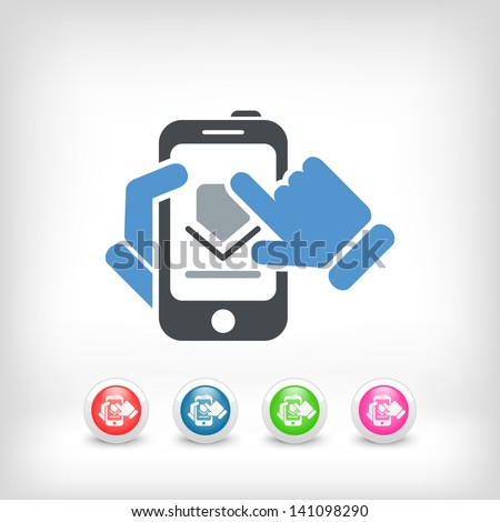 Download smartphone icon
