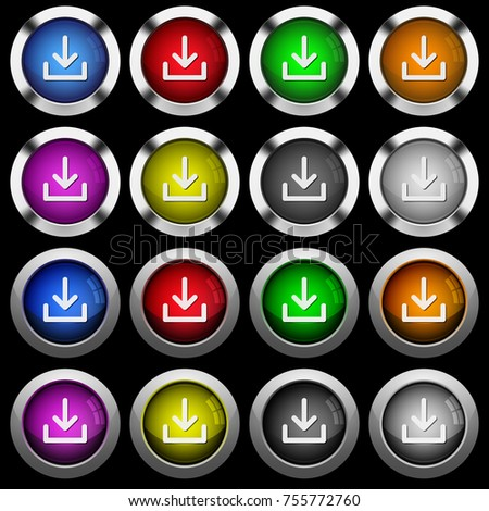 download symbol white icons in